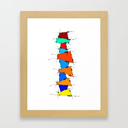 Sanomessia - melting cubes Framed Art Print