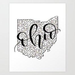 Ohio Love Art Print