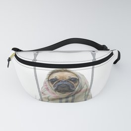 Pug Dog in a Drone Fanny Pack