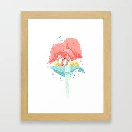 Whale Island Framed Art Print