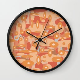 abstract brown oval background Wall Clock