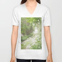 country V-neck T-shirts featuring Country Road by Pure Nature Photos