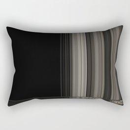 Modern Black Ribbon Pattern Design Rectangular Pillow