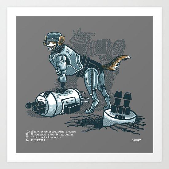 Robopup Art Print