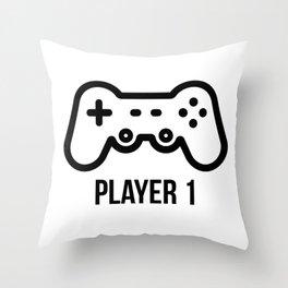 Player 1 Throw Pillow