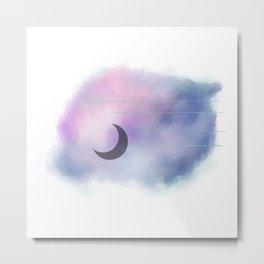 Space Moon Metal Print