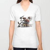 mario kart V-neck T-shirts featuring Death Kart by Calakka
