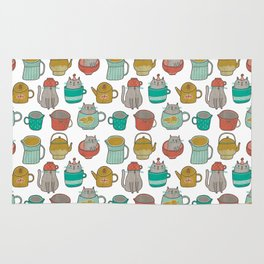 Pattern Project #5 / Cats and Pots Rug