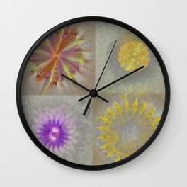 Anticapitalistically Combination Flower  ID:16165-030023-59450 Wall Clock