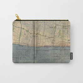 Vintage Utah Beach D-Day Invasion Map (1944) Carry-All Pouch