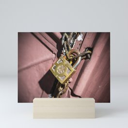 Chained doors Mini Art Print