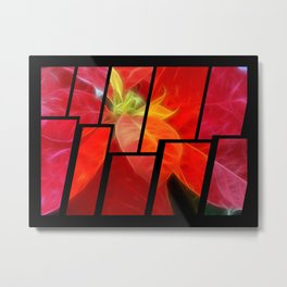 Mottled Red Poinsettia 2 Tinted 2 Metal Print