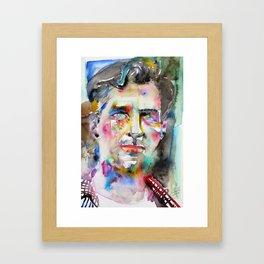 JACK KEROUAC - watercolor portrait.4 Framed Art Print