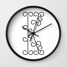 "Letter ""K"" in beautiful design Fashion Modern Style Wall Clock"