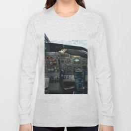 737 Airliner Cockpit Long Sleeve T-shirt