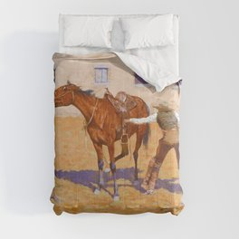 Frederic Remington - His First Leson - Digital Remastered Edition Comforters