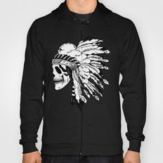 Black and White Native American  Hoody