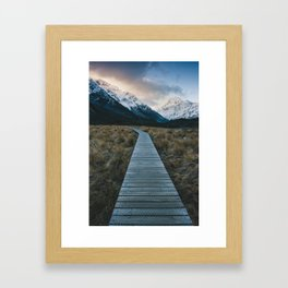 Pathway to Mount Cook Framed Art Print