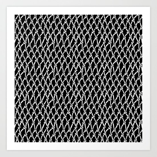 Net Black Art Print