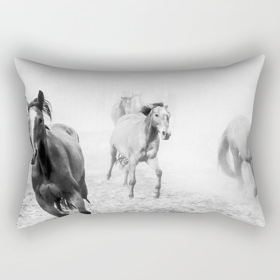 Running with the horses Rectangular Pillow