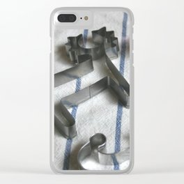 Baking Holiday Cookies Clear iPhone Case