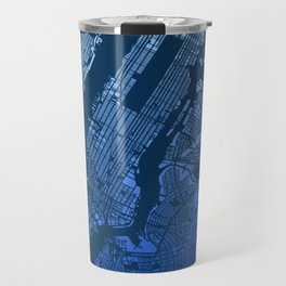 New York City Manhattan Two Tone Map Travel Mug