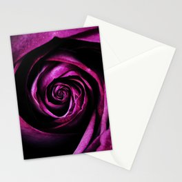 Purple rose open bud Stationery Cards