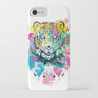 psychadelic iPhone & iPod Cases featuring Tiger Splash by Geo Law