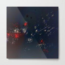 Fireworks and Bokeh Metal Print