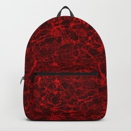 Hot Fire Red Cloudy Flaming Smoke Water Backpack