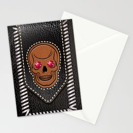 Hot Head Leather 2 Stationery Cards