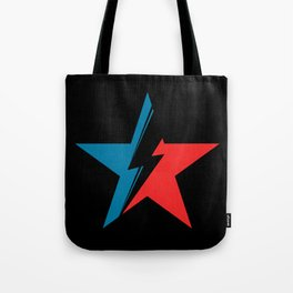 Bowie Star black Tote Bag