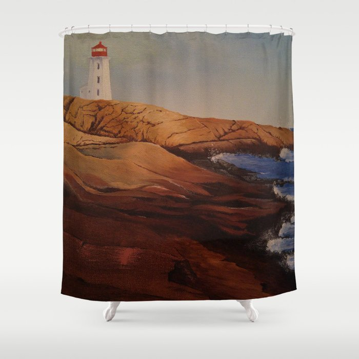 Lighthouse Shower Curtain By 100leaves