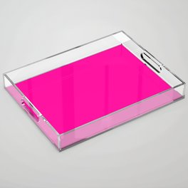 Neon Pink Solid Colour Acrylic Tray