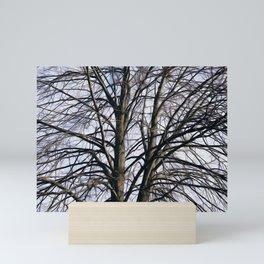 Stained Glass Tree Mini Art Print