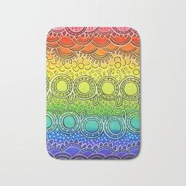 Rainbow Doodle Bath Mat