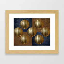 GOLD GOLF Framed Art Print