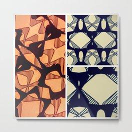 DISTORTION AND PERCEPTION PATTERN  - ORANGE Metal Print
