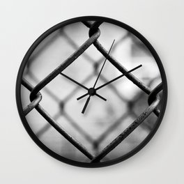 Fenced In, New York City  Wall Clock