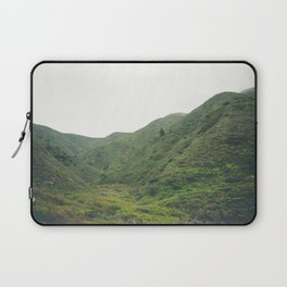 Green Giant | Peaceful Cloudy Nature Landscape Photography of California Hills Laptop Sleeve