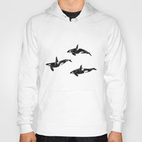 killer whale Hoodies featuring Killer Whale Pod by Graeme McMillan
