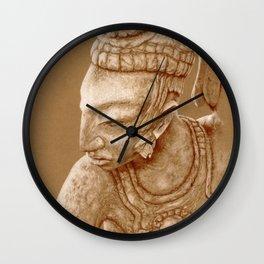 mayan nobleman brown Wall Clock
