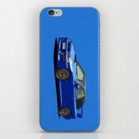 subaru iPhone & iPod Skins featuring Subaru Impreza 22B STI Type UK Sonic Blue by Digital Car Art