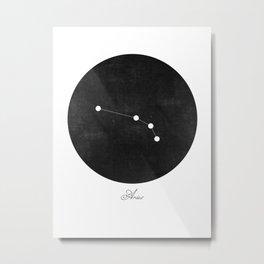 Aries Zodiac Constellation Art Print Metal Print