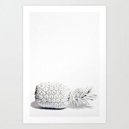 WHITE PINEAPPLE Art Print