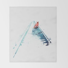 From nowhere to nowhere Throw Blanket