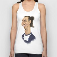 zlatan Tank Tops featuring Ibrahimovic - PSG by Sant Toscanni