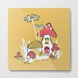 Suburban Mushroom Metal Print