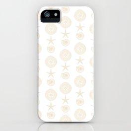 Beachy Seashell Pattern iPhone Case