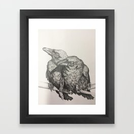 Huginn and Muninn Framed Art Print
